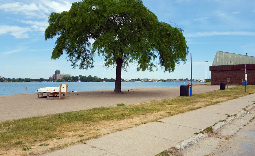 Belle Isle was virtually empty outside of the Grand Prix area because no one is allowed to drive to the island. Photo by Chuck Goodine.
