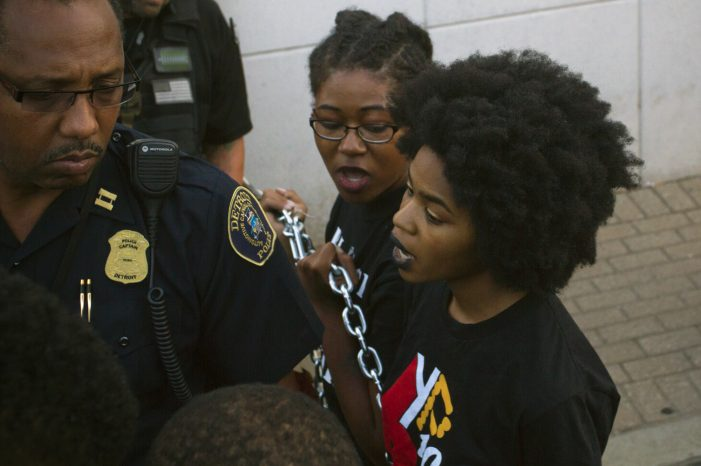 Photos: Detroit cops arrest 6 protesters during Black Lives Matter rally