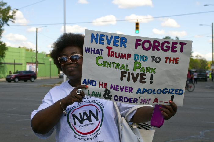 Photos: Protesters far outnumber attendees at Trump's church visit