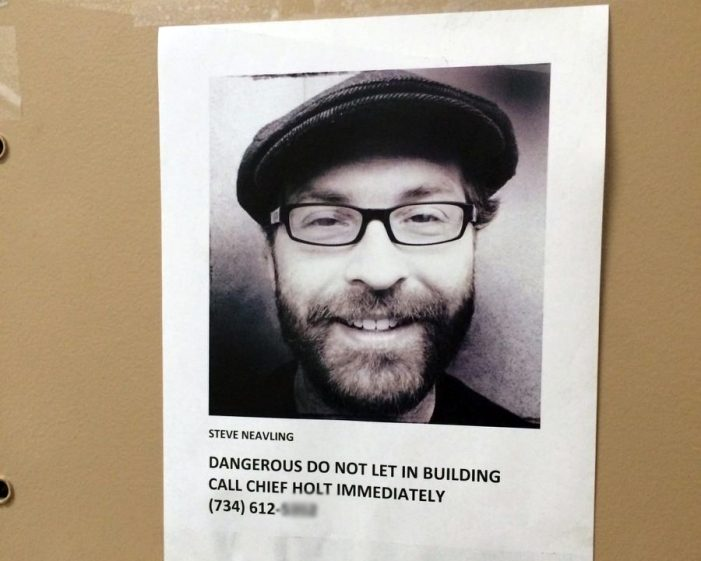WSU flyer: Muckraker's Neavling is 'dangerous,' not allowed in campus building