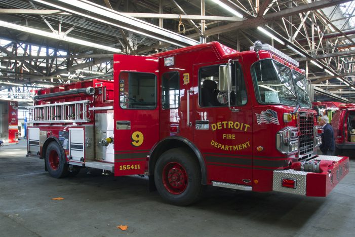 Just in time for Devils' Night, Detroit gets new fire engines