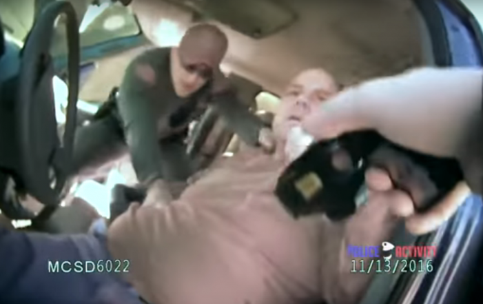 Video: Drunken sheriff's lieutenant nearly tasered for refusing to cooperate