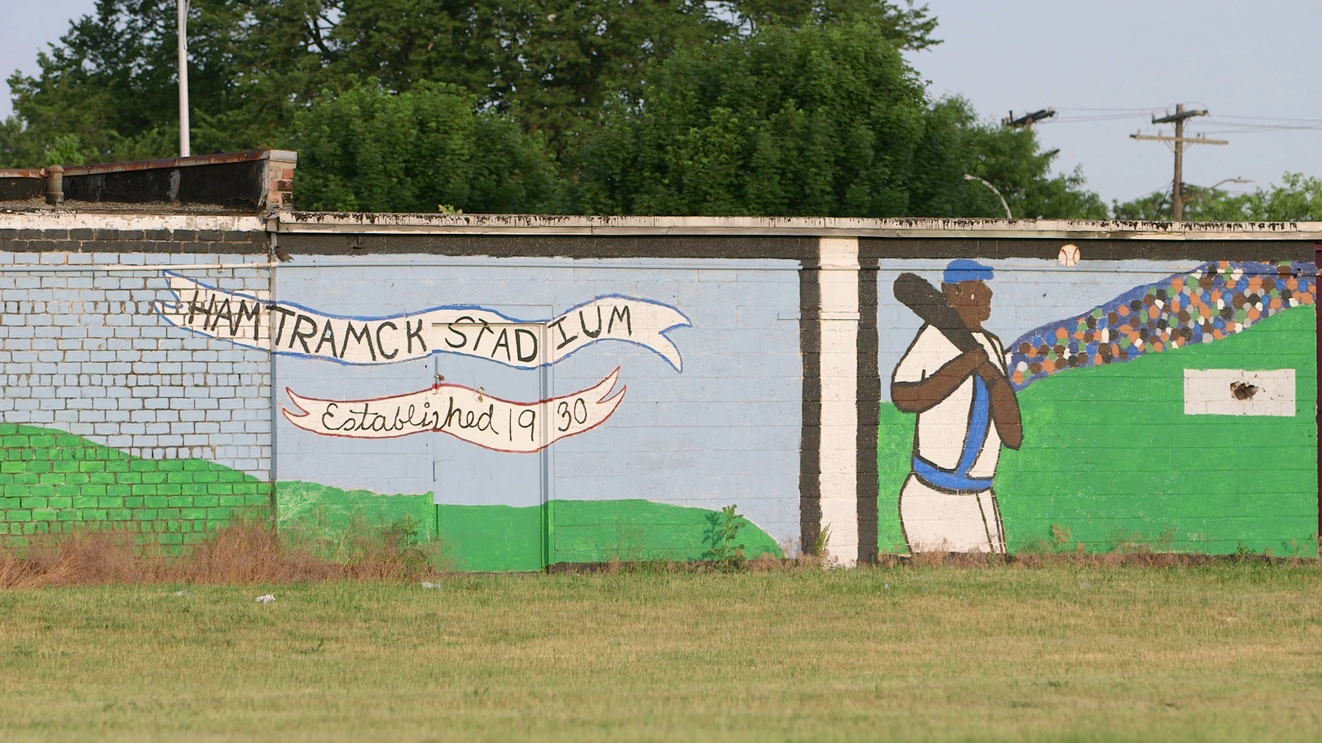 historic negro league baseball field in hamtramck to get new life hamtramck wall 01