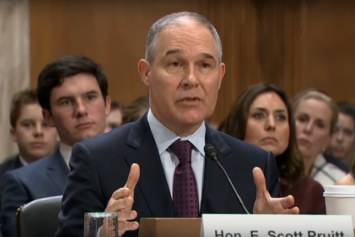 EPA nominee Scott Pruitt admits he knows nothing about lead poisoning