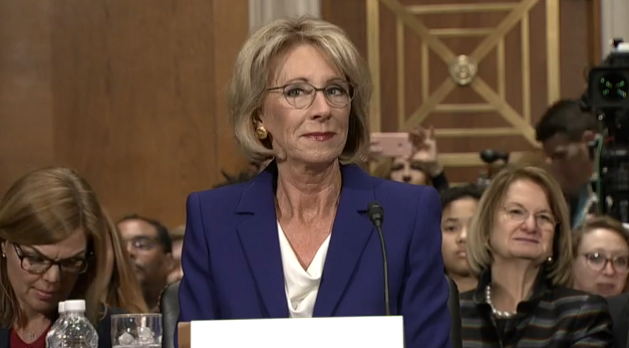 Watch protesters block Betsy DeVos from entering a Washington D.C. school