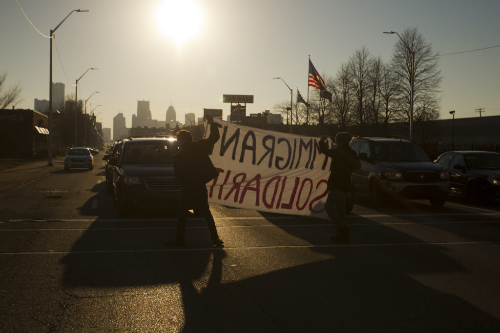 13 Photos Of Pro Immigration Rally Outside A Detroit Ice