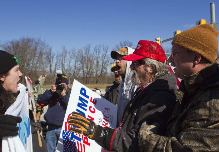 33 photos: Clashes break out before pro-Trump march in Sterling Heights