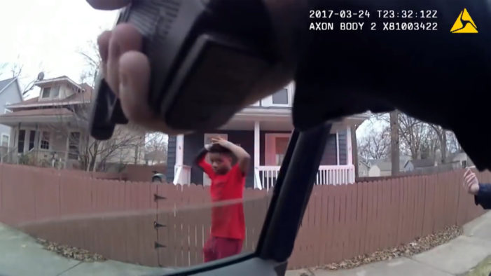 Video shows Grand Rapids cop pointing guns at black children